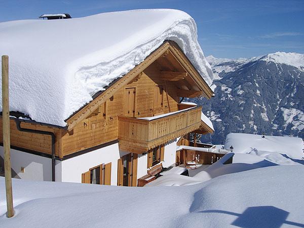 wintersport chalet oostenrijk